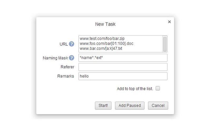 Скриншот 1 программы Chrono Download Manager
