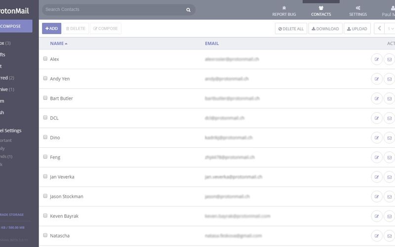 Скриншот 1 программы ProtonMail