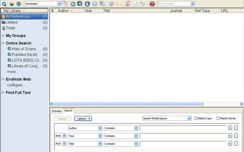Скриншот 1 программы EndNote