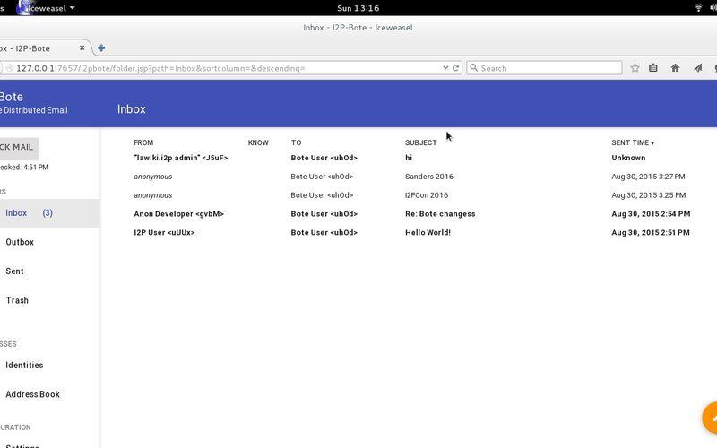Скриншот 1 программы I2P