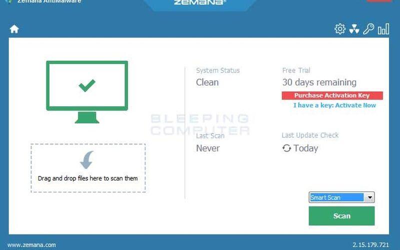 Скриншот 1 программы Zemana AntiMalware