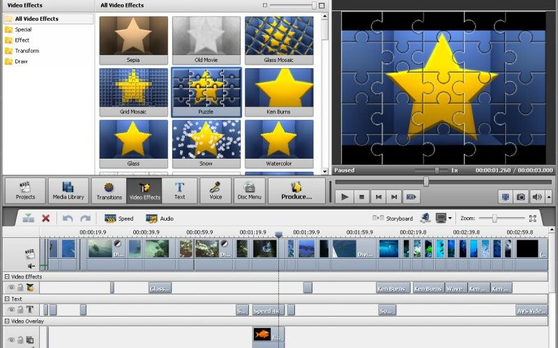 Скриншот 1 программы AVS Video Editor
