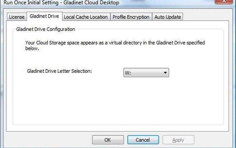 Скриншот 1 программы Gladinet