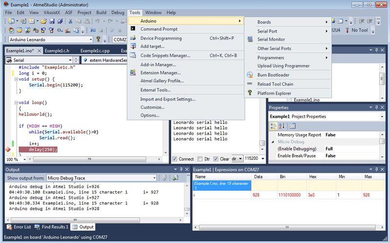Скриншот 1 программы Visual Micro
