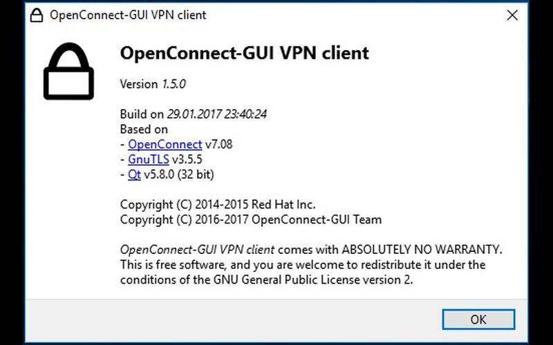 Скриншот 1 программы OpenConnect GUI