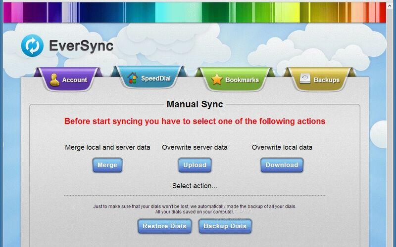 Скриншот 1 программы EverSync