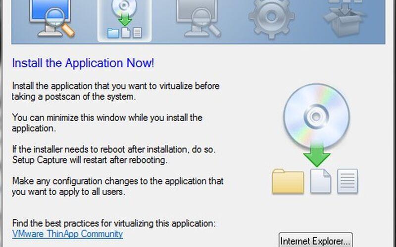 Скриншот 1 программы VMware ThinApp