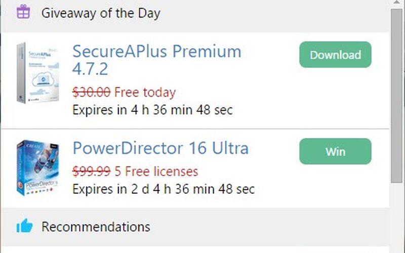 Скриншот 1 программы Software Informer
