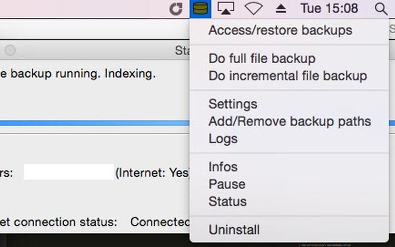 Скриншот 1 программы UrBackup