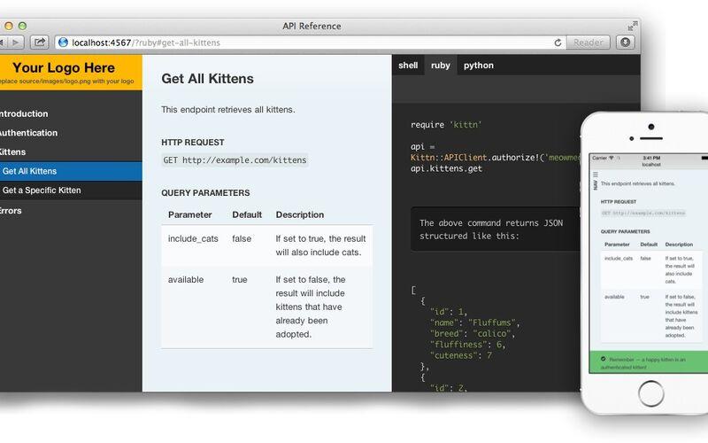 Скриншот 1 программы Slate API Docs Generator