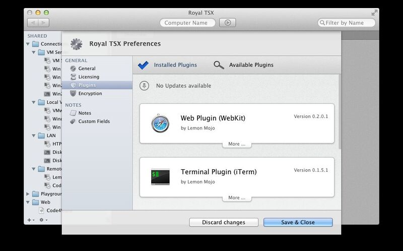 Скриншот 1 программы Royal TSX