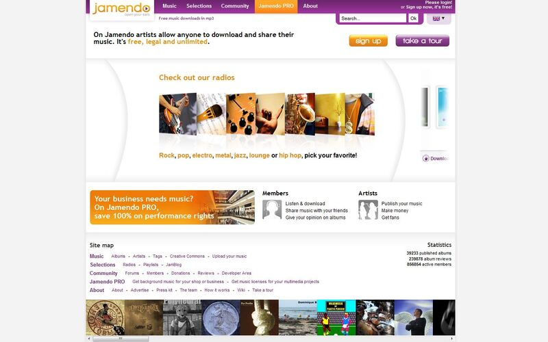 Скриншот 1 программы Jamendo