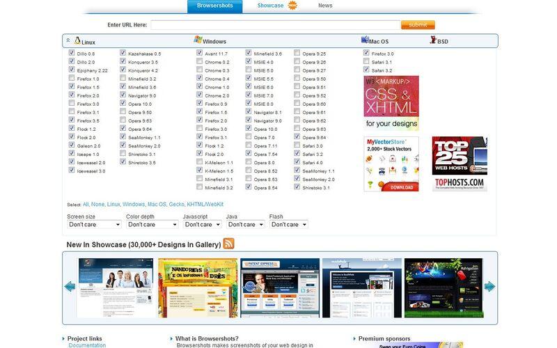 Скриншот 1 программы Browsershots