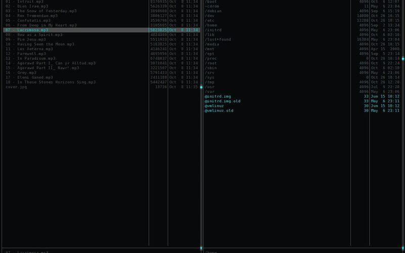 Скриншот 1 программы Midnight Commander