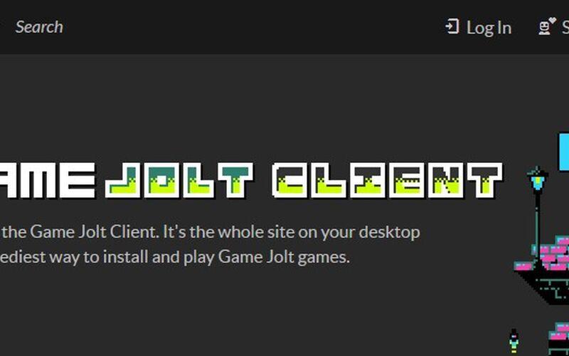 Скриншот 1 программы Game Jolt