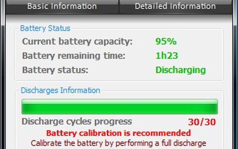 Скриншот 1 программы BatteryCare