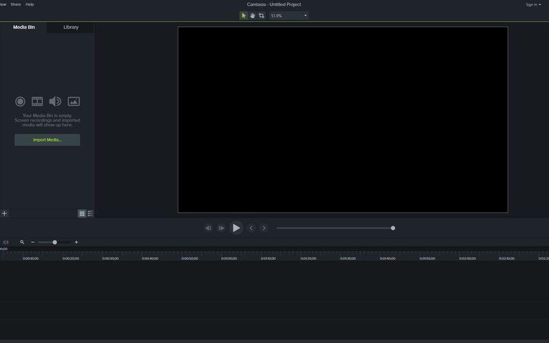 Скриншот 1 программы Camtasia Studio