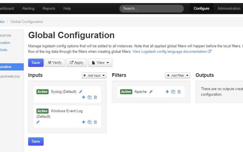 Скриншот 1 программы Nagios Log Server