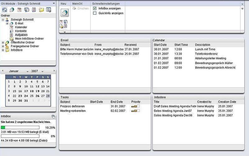 Скриншот 1 программы OX Open-Xchange