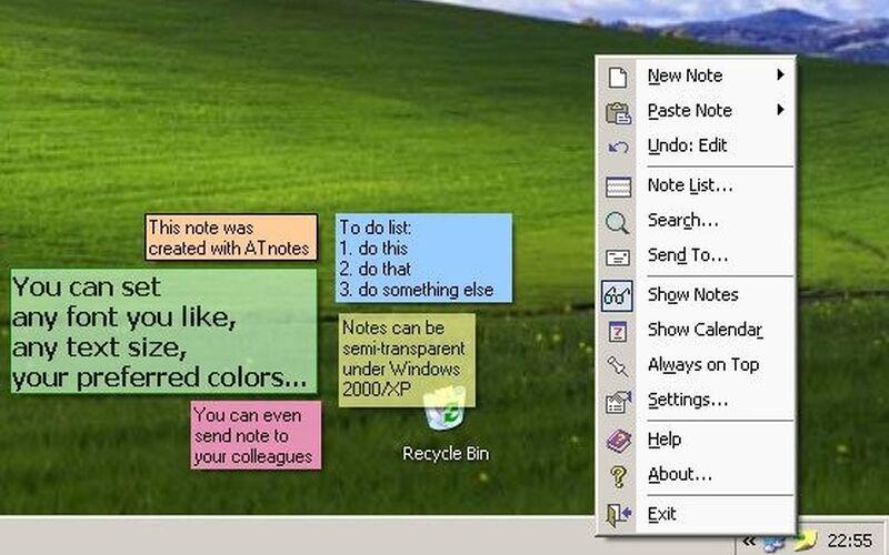 Скриншот 1 программы ATnotes