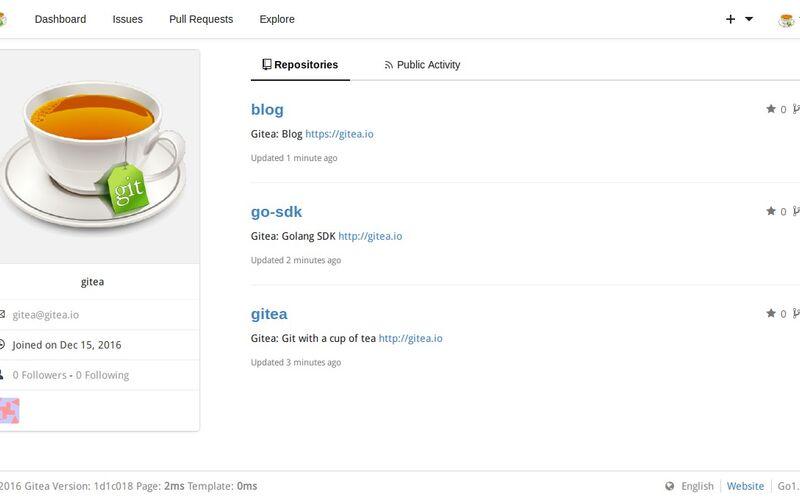 Скриншот 1 программы Gitea