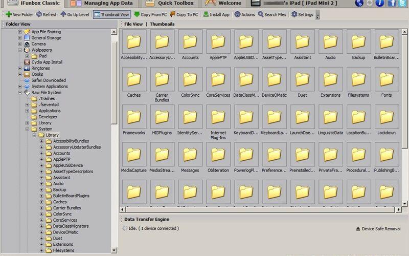 Скриншот 1 программы i-FunBox