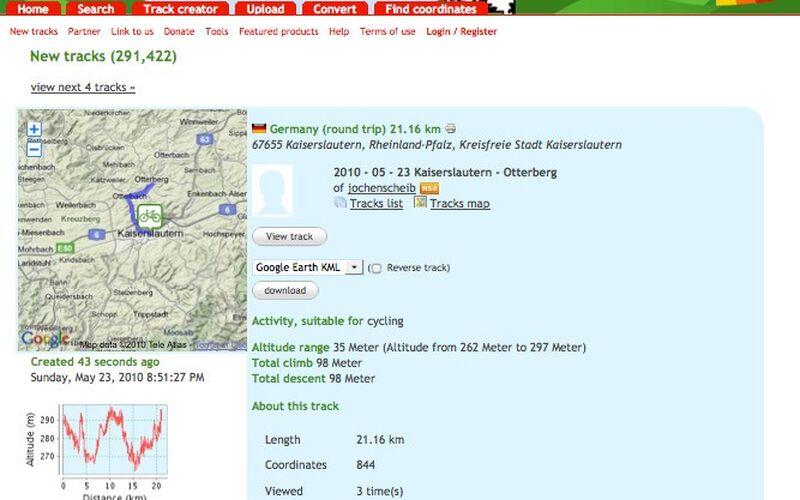 Скриншот 1 программы GPSies