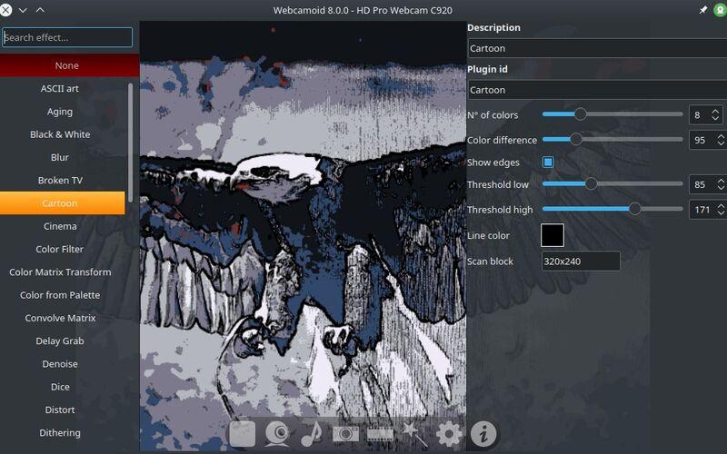 Скриншот 1 программы Webcamoid