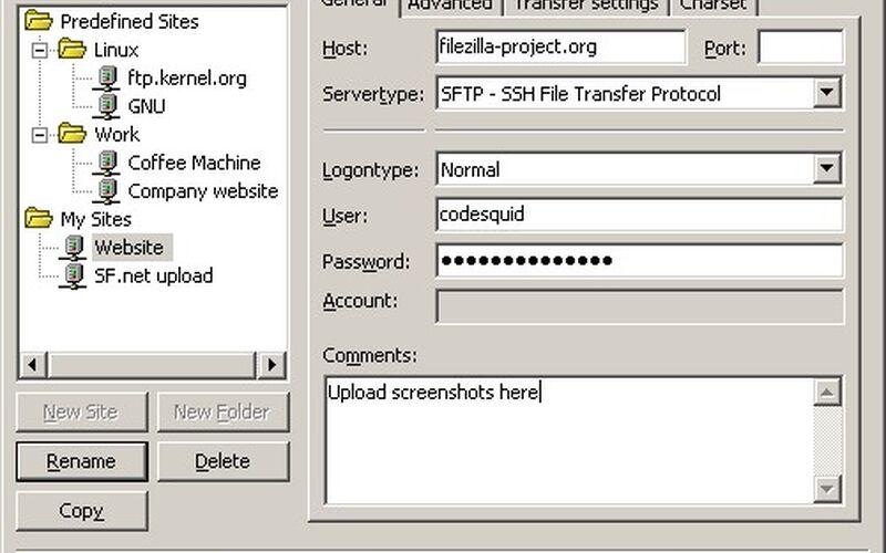 Скриншот 1 программы FileZilla