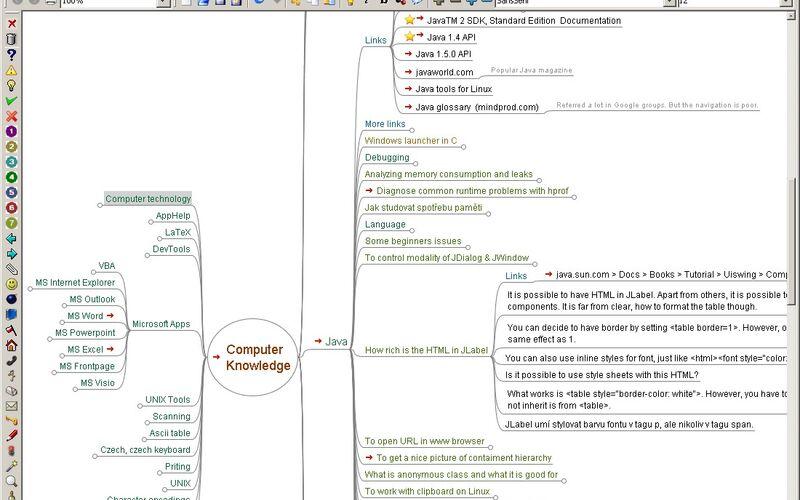 Скриншот 1 программы FreeMind