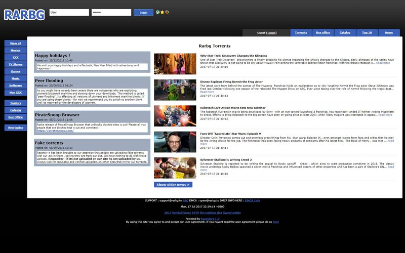 Скриншот 1 программы RARBG