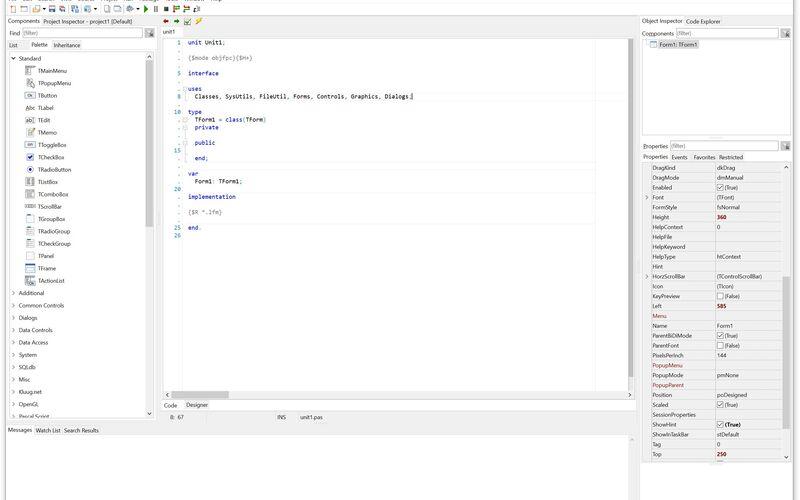 Скриншот 1 программы Lazarus