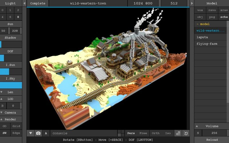 Скриншот 1 программы MagicaVoxel