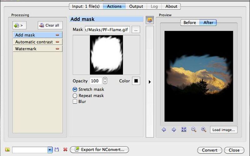 Скриншот 1 программы XnConvert