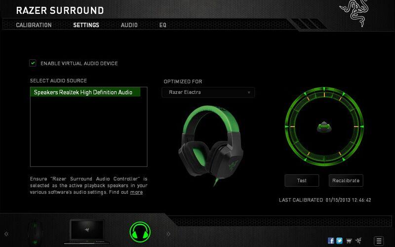 Скриншот 1 программы Razer Surround