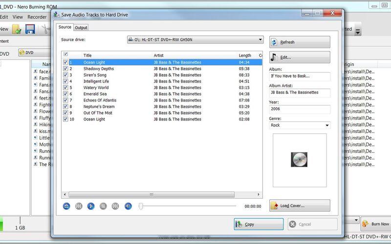 Скриншот 1 программы Nero Burning ROM