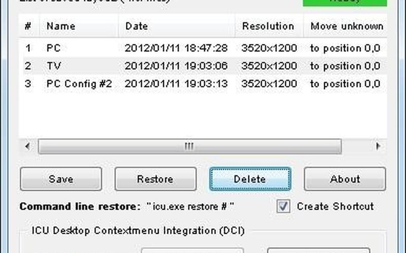 Скриншот 1 программы ICU - Icon Configuration Utility