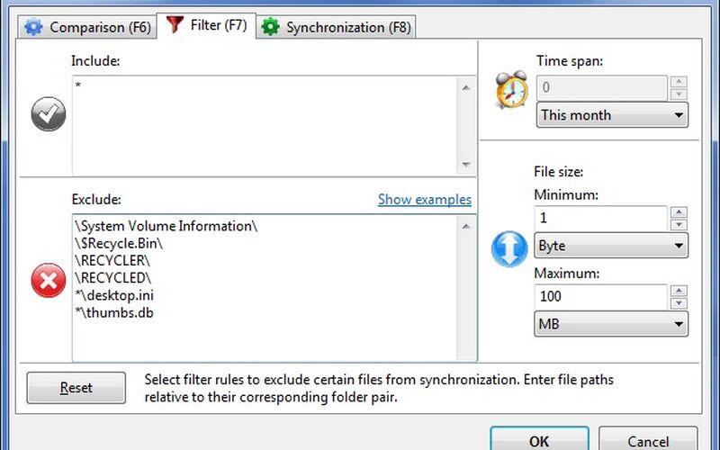 Скриншот 1 программы FreeFileSync