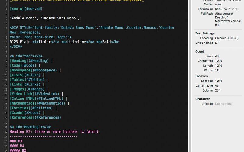Скриншот 1 программы CotEditor