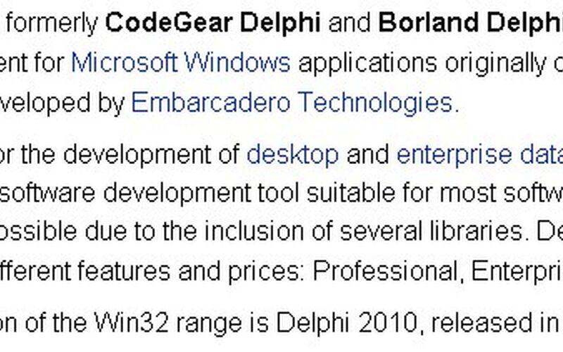 Скриншот 1 программы Delphi