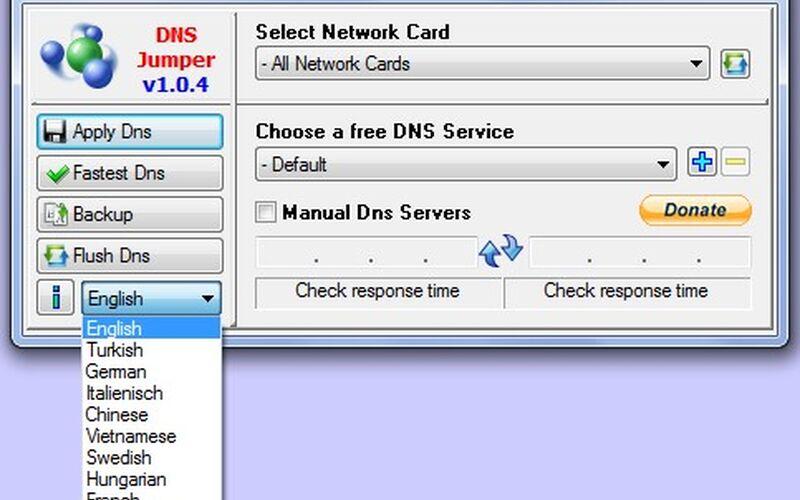 Скриншот 1 программы Dns Jumper