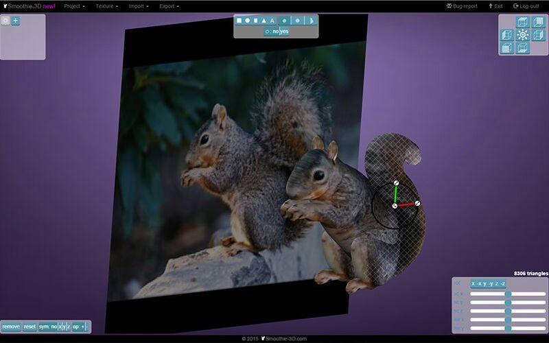 Скриншот 1 программы Smoothie 3D
