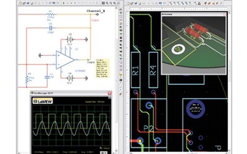 Скриншот 1 программы NI Circuit Design Suite Power Pro