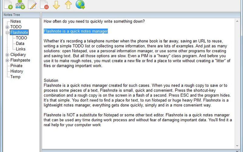 Скриншот 1 программы Flashnote