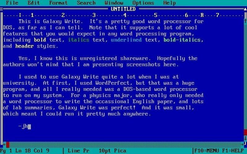 Скриншот 1 программы FreeDOS