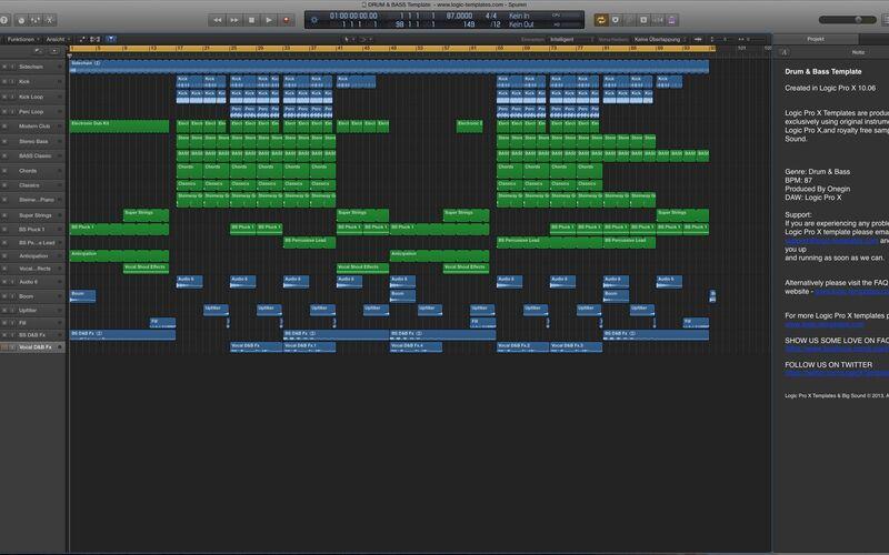 Скриншот 1 программы Logic Pro