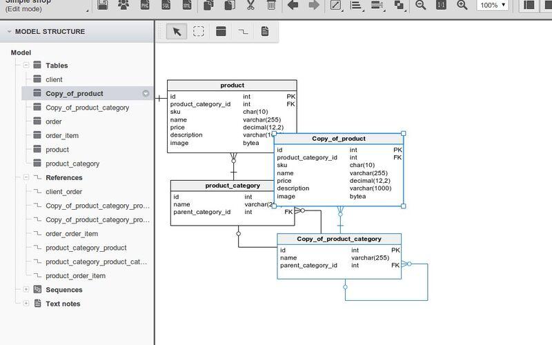 Скриншот 1 программы Vertabelo