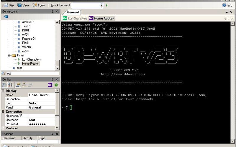 Скриншот 1 программы mRemoteNG