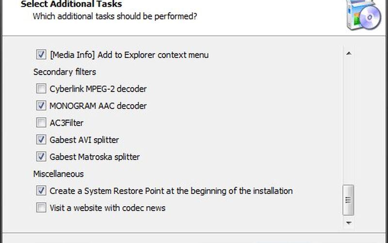 Скриншот 1 программы K-Lite Codec Pack