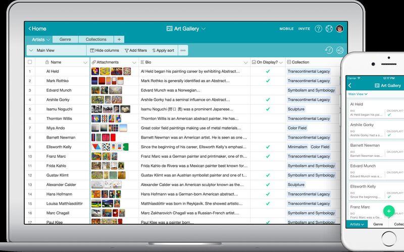 Скриншот 1 программы Airtable